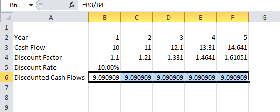 DISCOUNTED CASH FLOW EXAMPLE DOWNLOAD